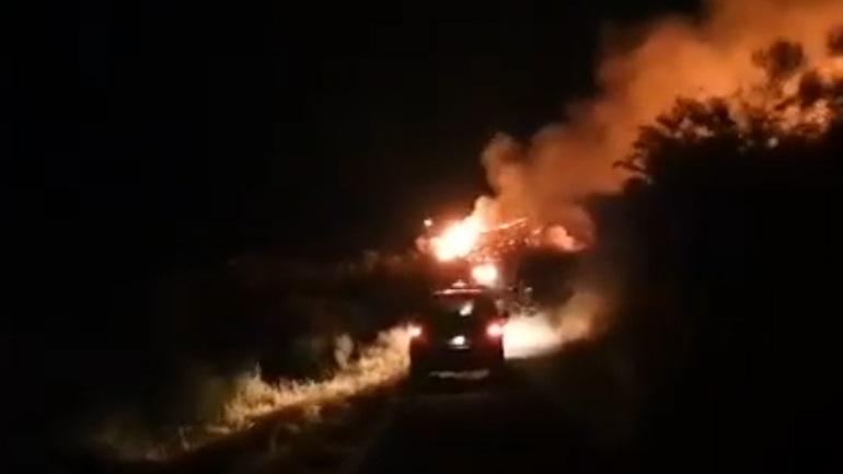 Πυρκαγιά στην περιοχή των Συχαινών-Βούντενης στην Πάτρα