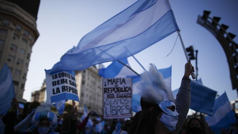 Αργεντινή: Διαδήλωση κατά των περιοριστικών μέτρων στο Μπουένος Άιρες