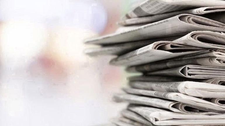 Τα πρωτοσέλιδα των εφημερίδων της Δευτέρας