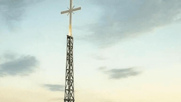 Ahval: Ο Ερντογάν θα παραπονεθεί στη Μέρκελ για γιγαντιαίο σταυρό στα σύνορα του Έβρου