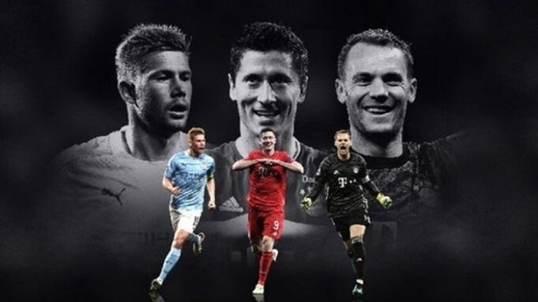 UEFA: Νόιερ, Λεβαντόφσκι και Ντε Μπρόινε οι υποψήφιοι για τον κορυφαίο της σεζόν
