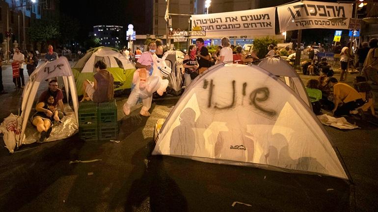 Ισραήλ: Διαδήλωση κατά του περιορισμού των συναθροίσεων