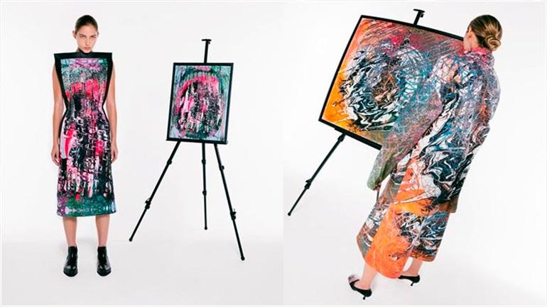 Η SS21 συλλογή του Christopher Kane είναι εμπνευσμένη από πίνακες που ζωγράφισε στο lockdown