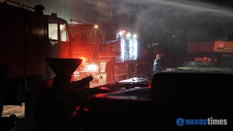 Φωτιά σε επιχείρηση ανακύκλωσης στη Νάξο