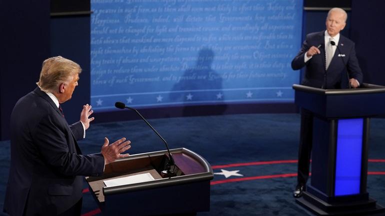 ΗΠΑ: 100 εκατ. τηλεθεατές αναμένεται να παρακολουθήσουν το debate Τραμπ - Μπάιντεν