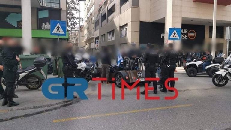 θεσσαλονίκη: Μπλόκο της Αστυνομίας σε παρέλαση δικυκλιστών