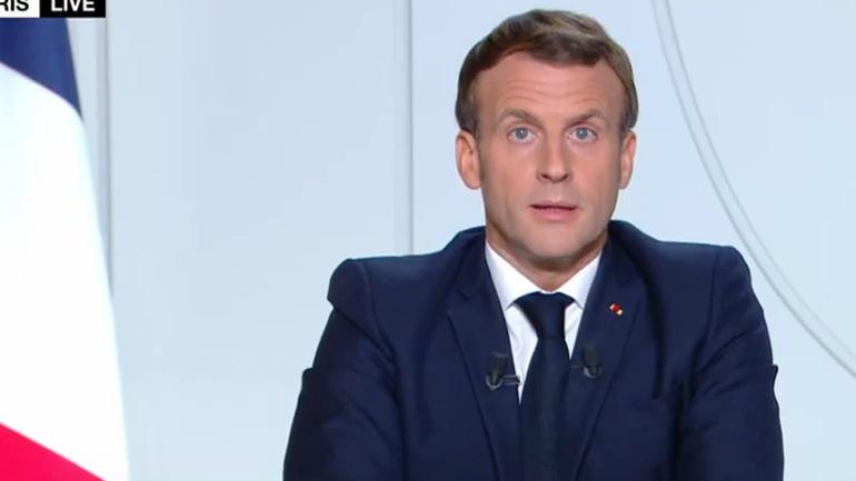 Διάγγελμα Μακρόν για τον κορωνοϊό - Ολικό lockdown στη Γαλλία από την Παρασκευή