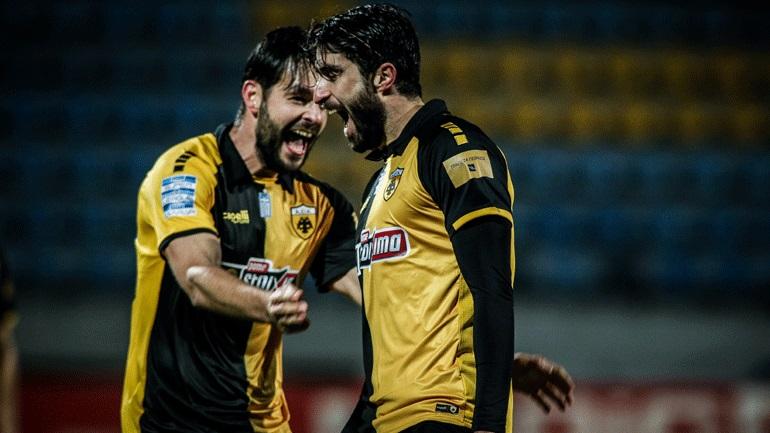 Σημαντικό «διπλό» για την ΑΕΚ με 2-1 επί του Αστέρα Τρίπολης