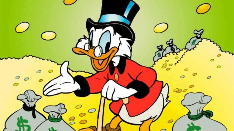 Σκρουτζ Μακ Ντακ,το πιο πλούσιο και φιλάργυρο παπί του κόσμου