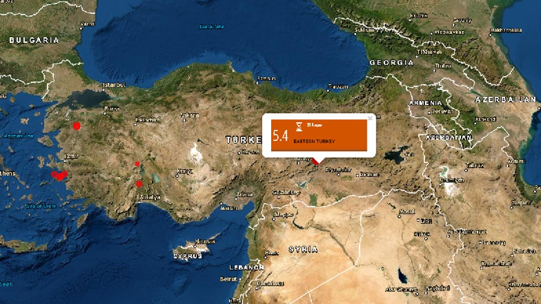 Ισχυρός σεισμός μεγέθους 5,4 Ρίχτερ στην Τουρκία