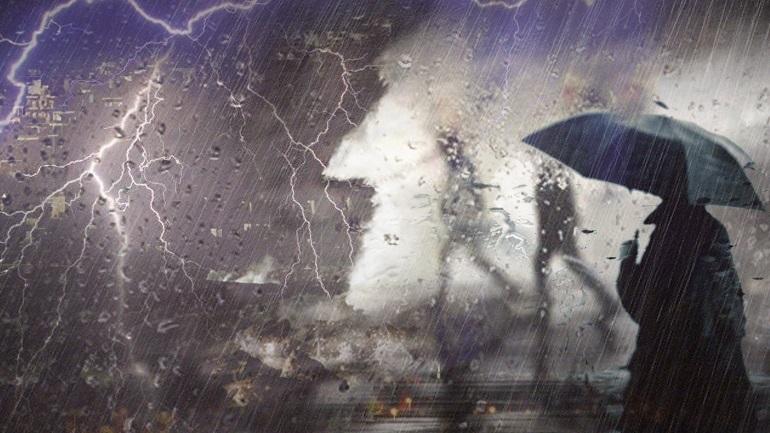 O καιρός τη Δευτέρα: Νεφώσεις, βροχές και καταιγίδες