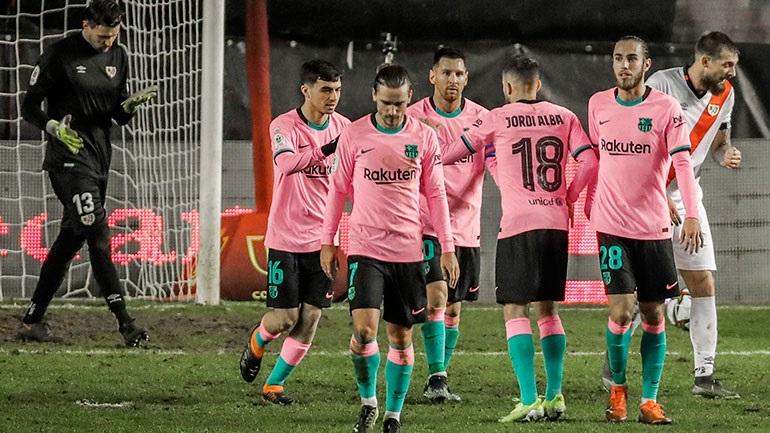 Δύσκολη πρόκριση στους «8» για την Μπαρτσελόνα, 2-1 τη Ράγιο Βαγιεκάνο