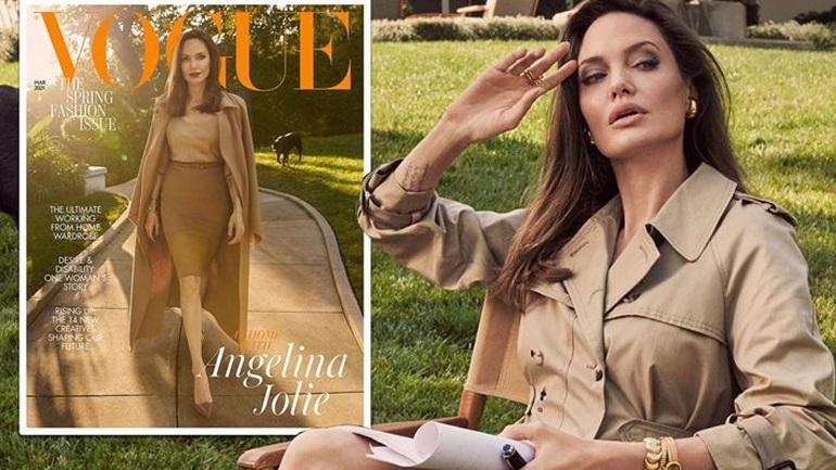 Η Angelina Jolie ποζάρει για τη βρετανική Vogue και μιλάει για όλους και για όλα