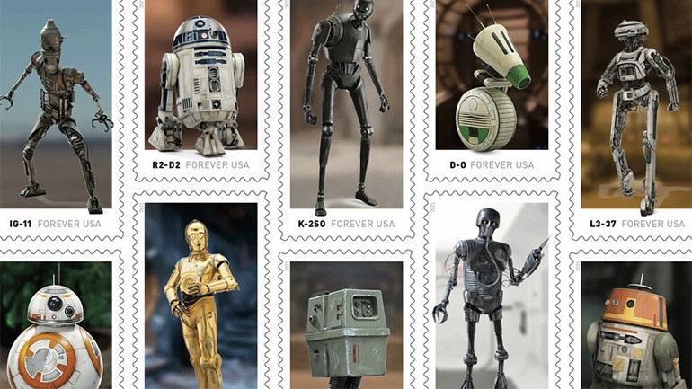 Star Wars» γραμματόσημα από τα Αμερικανικά Ταχυδρομεία