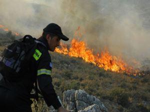 Χίος: Μαίνεται η πυρκαγιά στην περιοχή Μελανιός