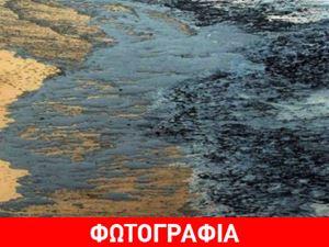 Πετρελαιοκηλίδα σε παραλία του Ηρακλείου