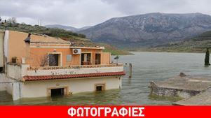 Το νερό του Αποσελέμη απειλεί το ναό του Αγίου Θεοδώρου στο Σφενδύλι