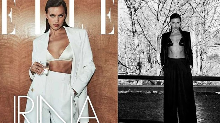 Irina Shayk: Ποζάρει για το εξώφυλλο του Elle με stylish outfits και εντυπωσιάζει!