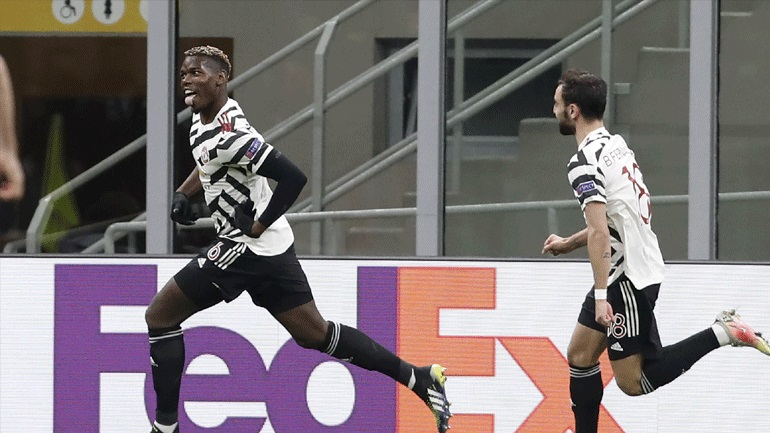 Εuropa League: Ο Πογκμπά έστειλε τη Γιουνάιτεντ στους «8», 1-0 τη Μίλαν στο «Σαν Σίρο»