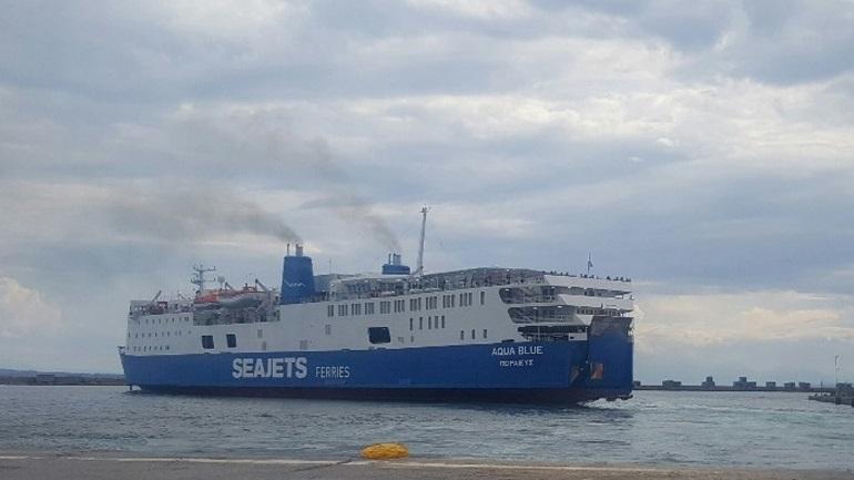 Γενικό blackout στο πλοίο Aqua Blue - Επέστρεψε στο Λαύριο