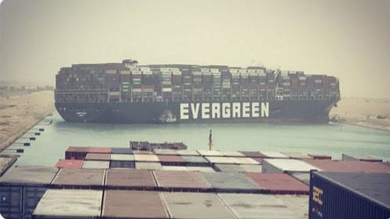 Φράκαρε η Διώρυγα του Σουέζ - Ακινητοποιήθηκε πλοίο μήκους 400 μέτρων