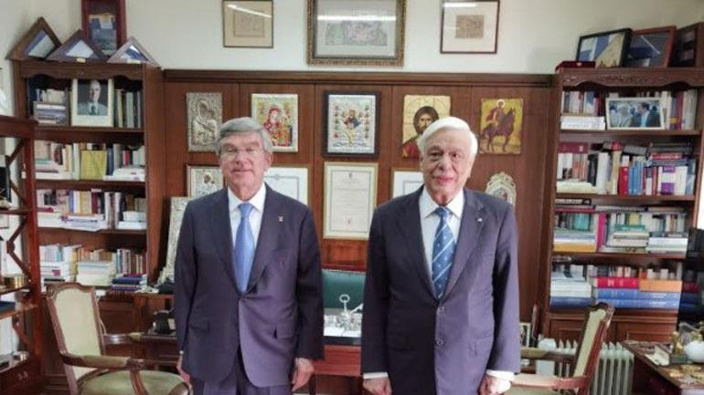 Συνάντηση Παυλόπουλου με τον Πρόεδρο της ΔΟΕ, Thomas Bach