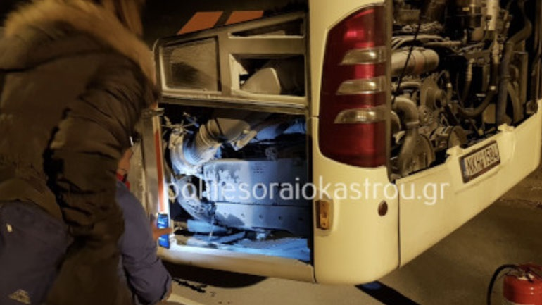 Φωτιά σε αστικό λεωφορείο στο Ωραιόκαστρο Θεσσαλονίκης