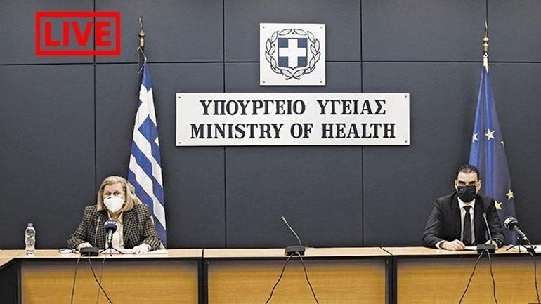 LIVE: H ενημέρωση για τον κορωνοϊό από το Υπουργείο Υγείας