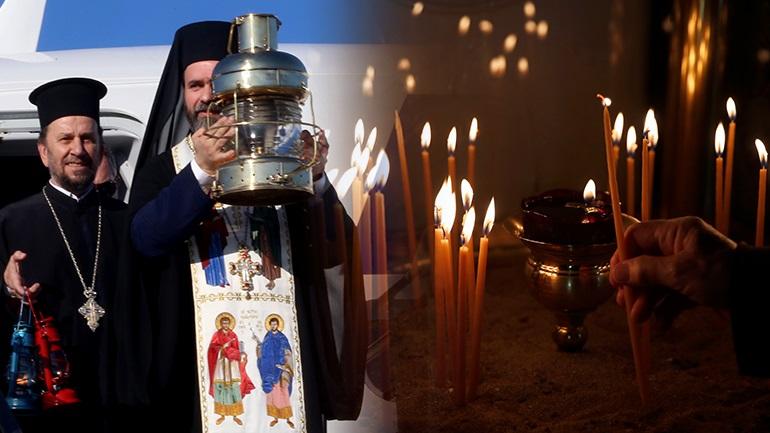 Αφίχθη το Άγιο Φως από τα Ιεροσόλυμα