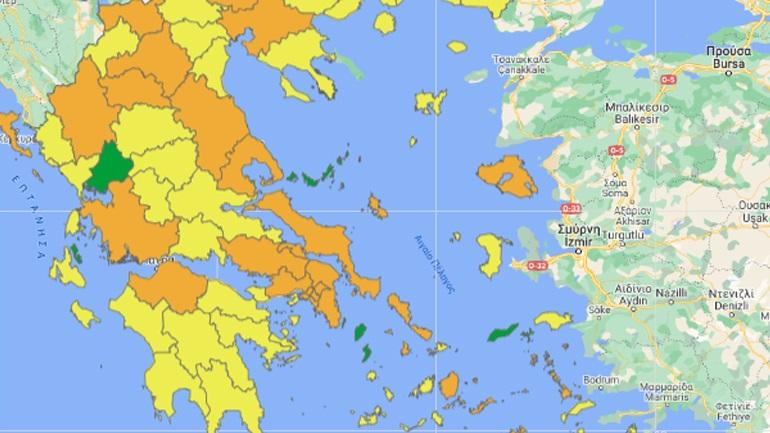Τον νέο επιδημιολογικό χάρτη της Ελλάδας παρουσίασε ο Νίκος Χαρδαλιάς