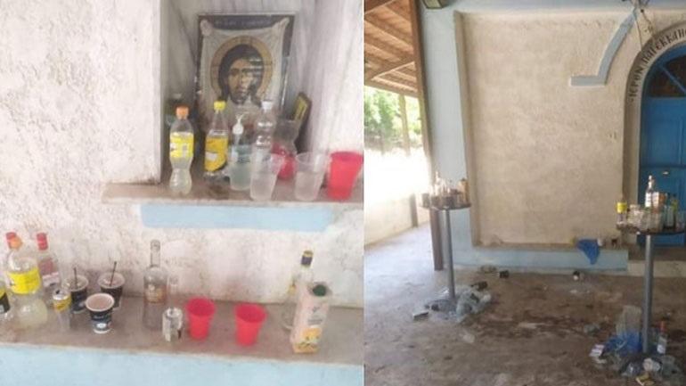 Σέρρες: Άγνωστοι μετέτρεψαν το παρεκκλήσι του Αγ. Μανδηλίου σε μπαρ
