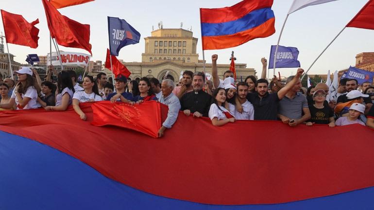 Αρμενία-βουλευτικές εκλογές: Διαδήλωση στο Γερεβάν υπέρ του ηγέτη της αντιπολίτευσης