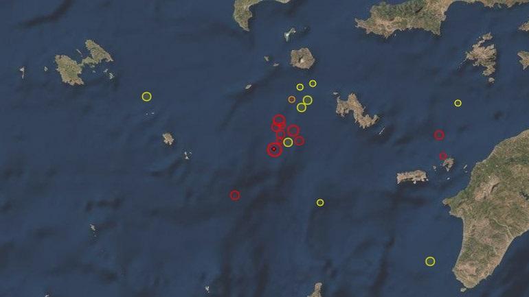 Ισχυρός σεισμός 5,7 Ρίχτερ νοτιοδυτικά της Νισύρου