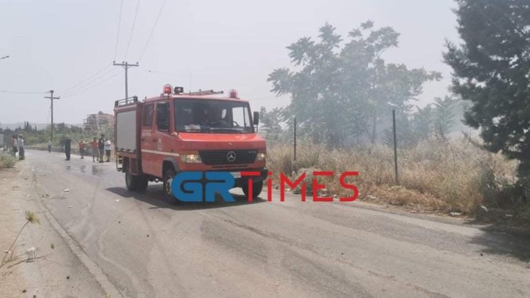 Θεσσαλονίκη: Έσβησε η φωτιά σε ξερά χόρτα κοντά στο αμαξοστάσιο του ΟΑΣΘ