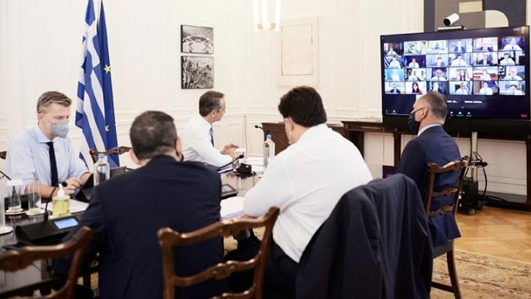 Σε εξέλιξη μέσω τηλεδιάσκεψης η συνεδρίαση του υπουργικού συμβουλίου