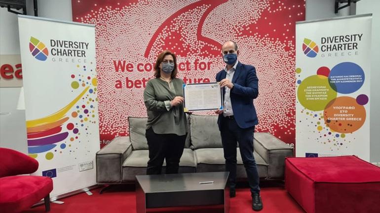 H Vodafone Ελλάδας υπέγραψε τη Χάρτα Διαφορετικότητας