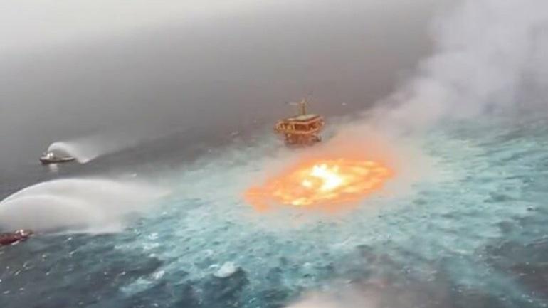 Μεξικό: Φωτιά στην επιφάνεια της θάλασσας από διαρροή αερίου σε υποβρύχιο αγωγό