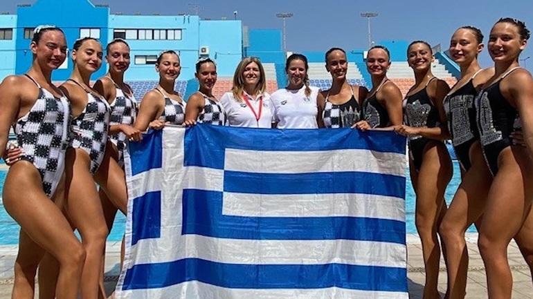 Καλλιτεχνική κολύμβηση: Tην 5η θέση στον τελικό του Κόμπο πήρε η Εθνική στο ευρωπαϊκό πρωτάθλημα