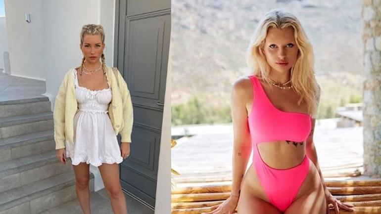 Lottie Moss: Η αδελφή της Kate Moss κάνει διακοπές στην Ελλάδα