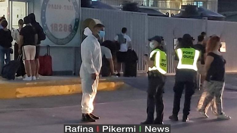 Συναγερμός στο λιμάνι της Ραφήνας για 70 ύποπτα κρούσματα σε πλοίο από την Ίο