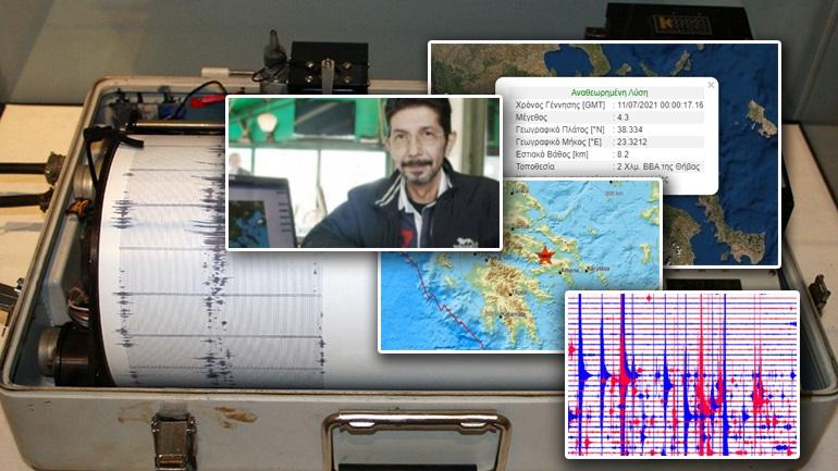 Σεισμός 3,4 Ρίχτερ στη Θήβα – Αισθητός και στην Αττική