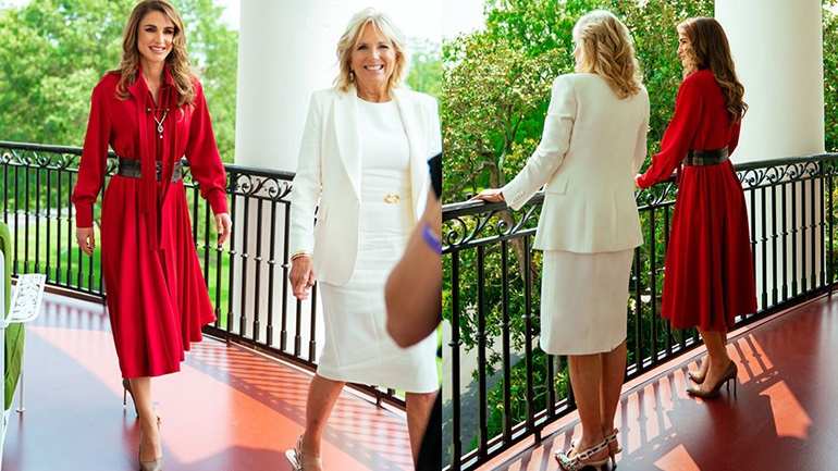Η βασίλισσα Ράνια παρέδωσε μαθήματα στυλ και κομψότητας στον Λευκό Οίκο