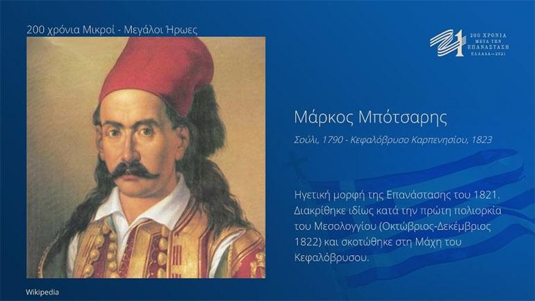H Επιτροπή «Ελλάδα 2021» τιμά τους Μικρούς και τους Μεγάλους ήρωες των 200 χρόνων