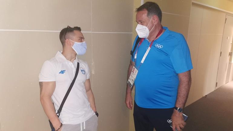 Ο Πρόεδρος της ΕΟΕ Σπύρος Καπράλος επισκέφτηκε τους αθλητές στο Ολυμπιακό Χωριό