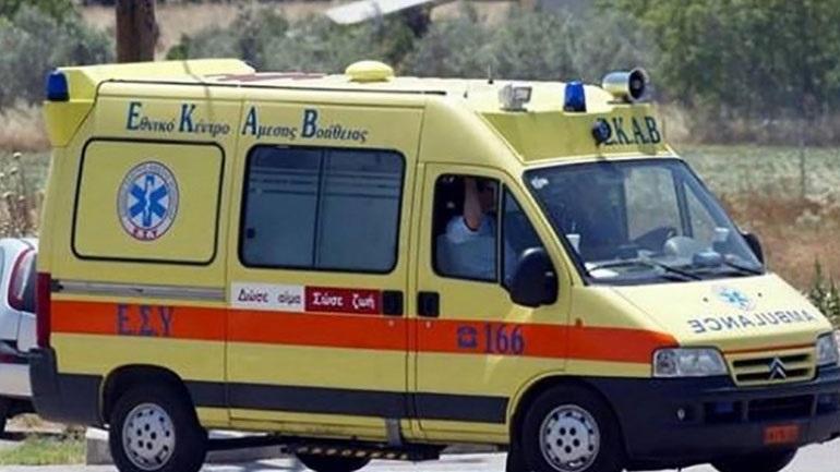 Ηράκλειο: Το αυτοκίνητο προσέκρουσε σε τοιχίο και πήρε φωτιά