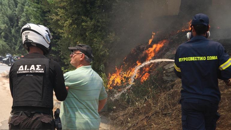 Φωτιά στη Σταμάτα: Μήνυμα έκτακτης ανάγκης από το 112 - Εκκενώθηκε οικισμός