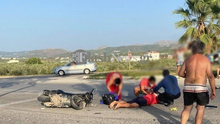Χανιά: Σοβαρό τροχαίο ατύχημα στο Καστέλι – Δίκυκλα συγκρούστηκαν μετωπικά
