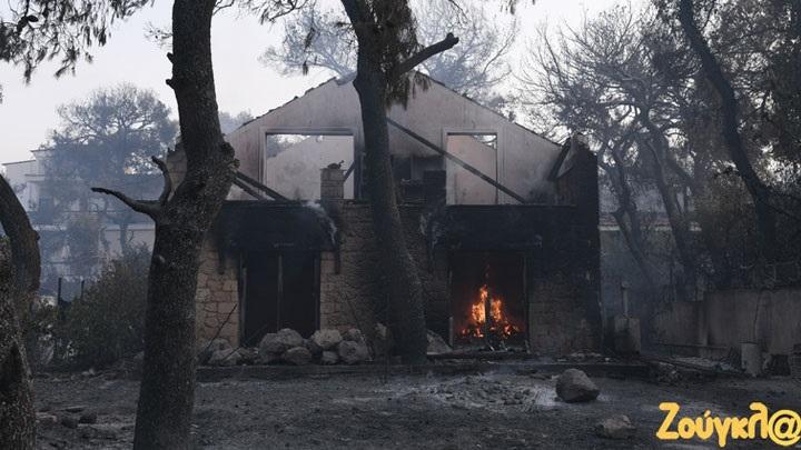 Νέες εκτιμήσεις για τη φωτιά στη Βαρυμπόμπη από το Εθνικό Αστεροσκοπείο Αθηνών