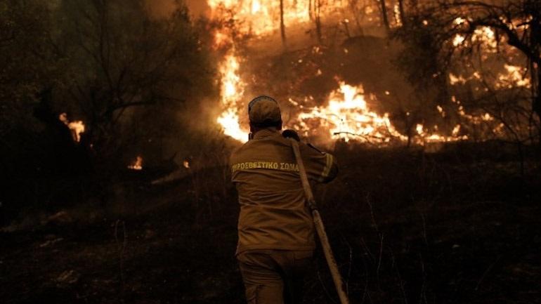 Εύβοια: Σε εξέλιξη πυρκαγιά στο Μετόχι Καρύστου