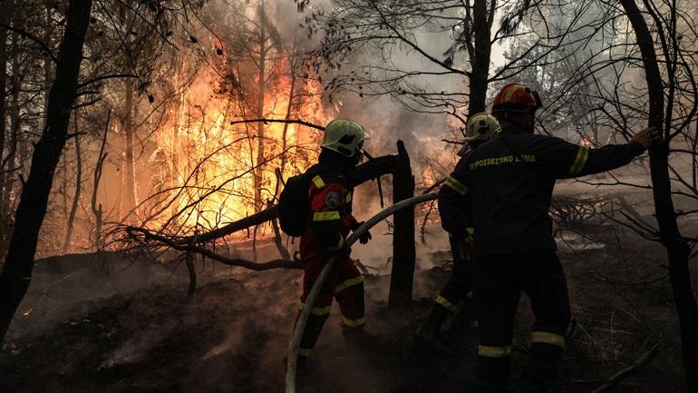 Μεγάλη φωτιά στο Μαρμάρι Ευβοίας